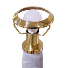Karl Springer Karl Springer Rare Pair of Lighthouse Lamps in Shagreen and Brass 1980s - 1974408