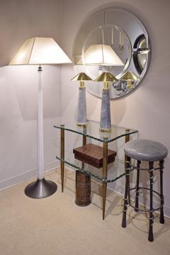 Karl Springer Karl Springer Rare Pair of Lighthouse Lamps in Shagreen and Brass 1980s - 1974410