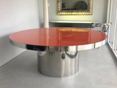 Karl Springer Karl Springer Red Stainless Steel Dining Table - 1308180