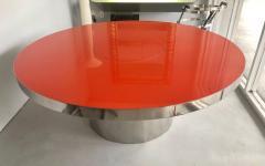 Karl Springer Karl Springer Red Stainless Steel Dining Table - 1308181