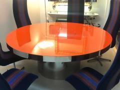 Karl Springer Karl Springer Red Stainless Steel Dining Table - 1308184