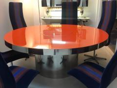 Karl Springer Karl Springer Red Stainless Steel Dining Table - 1308186
