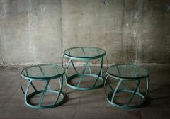 Karl Springer Karl Springer Set of 3 Barrel Tables - 398648