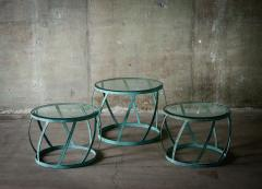 Karl Springer Karl Springer Set of 3 Barrel Tables - 398649