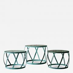 Karl Springer Karl Springer Set of 3 Barrel Tables - 398699