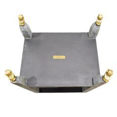 Karl Springer Karl Springer Shagreen Telephone Table with Brass Castors 1980s Signed  - 2007305