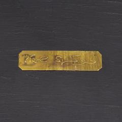 Karl Springer Karl Springer Shagreen Telephone Table with Brass Castors 1980s Signed  - 2007310
