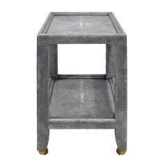Karl Springer Karl Springer Shagreen Telephone Table with Brass Castors 1980s Signed  - 2007311