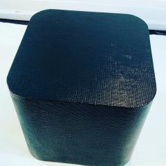 Karl Springer Karl Springer Style Grass Cloth Side Table - 1143128
