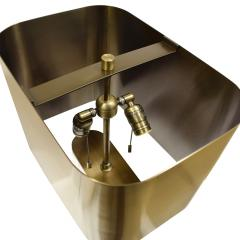 Karl Springer Karl Springer Table Lamp in Solid Lucite with Bronze Shade 1970s - 1628942