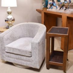 Karl Springer Karl Springer Telephone Table Style End Table in Leather and Shagreen 1980s - 2073620
