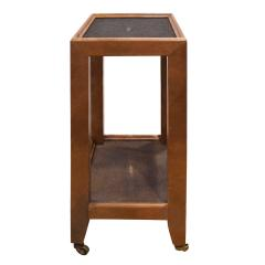 Karl Springer Karl Springer Telephone Table Style End Table in Leather and Shagreen 1980s - 2073621