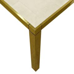 Karl Springer Karl Springer Triangular Leg Metal End Table with Shagreen Top 1980s Signed  - 1674453