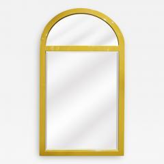 Karl Springer Karl Springer Wall Hanging Mirror in Mustard Lacquer 1970s - 1923740