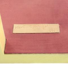 Karl Springer Karl Springer Yellow Cobra Telephone Table with Brass Castors 1985 Signed  - 2013074