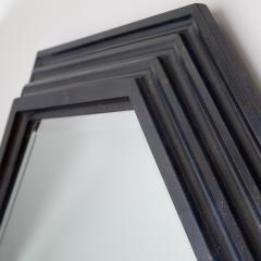 Karl Springer Karl Springer octagonal mirror in a faux lapis lacquer finish circa 1989 - 757601