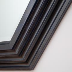 Karl Springer Karl Springer octagonal mirror in a faux lapis lacquer finish circa 1989 - 757606