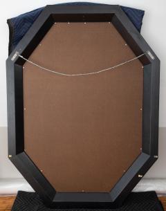 Karl Springer Karl Springer octagonal mirror in a faux lapis lacquer finish circa 1989 - 757614