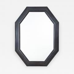 Karl Springer Karl Springer octagonal mirror in a faux lapis lacquer finish circa 1989 - 757888