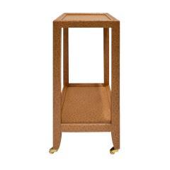 Karl Springer LTD Karl Springer LTD Telephone Table in Embossed Ostrich Leather ca 2001 - 1173349
