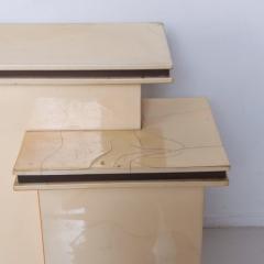 Karl Springer LTD Karl Springer Ltd Dry Bar Service Cabinet Lacquered Goatskin Parchment 1980 - 1887328