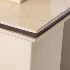Karl Springer LTD Karl Springer Ltd Dry Bar Service Cabinet Lacquered Goatskin Parchment 1980 - 1887329