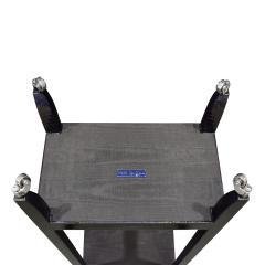 Karl Springer LTD Karl Springer Pair Of Telephone Tables In Lacquered Black Cobra 1990s Signed  - 1507142