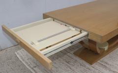 Karl Springer LTD Karl Springer Style Art Deco Dining Table With Two Leaves - 1542621