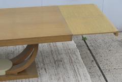 Karl Springer LTD Karl Springer Style Art Deco Dining Table With Two Leaves - 1542622