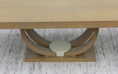 Karl Springer LTD Karl Springer Style Art Deco Dining Table With Two Leaves - 1542623
