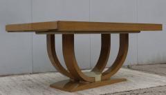 Karl Springer LTD Karl Springer Style Art Deco Dining Table With Two Leaves - 1542624