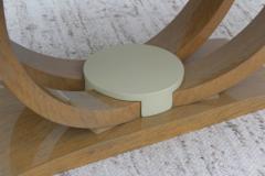 Karl Springer LTD Karl Springer Style Art Deco Dining Table With Two Leaves - 1542626