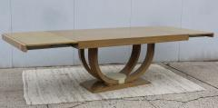 Karl Springer LTD Karl Springer Style Art Deco Dining Table With Two Leaves - 1542627