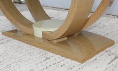 Karl Springer LTD Karl Springer Style Art Deco Dining Table With Two Leaves - 1542629