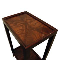 Karl Springer LTD Karl Springer Telephone Table in Double Book Matched Flame Mahogany 2002 - 720336