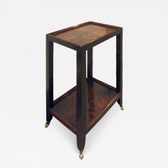 Karl Springer LTD Karl Springer Telephone Table in Double Book Matched Flame Mahogany 2002 - 720657