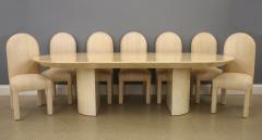 Karl Springer Lacquered Goat Skin Dining Table - 2101878