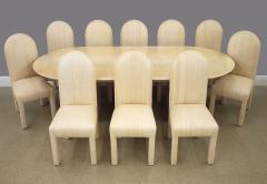 Karl Springer Lacquered Goat Skin Dining Table - 2101879