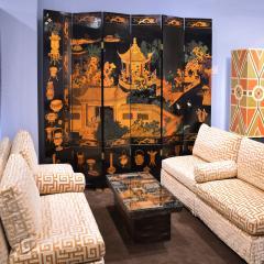 Karl Springer Large 6 Panel Artisan Chinese Screen Sold Through Karl Springer 1980s - 2131282