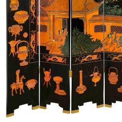 Karl Springer Large 6 Panel Artisan Chinese Screen Sold Through Karl Springer 1980s - 2131285