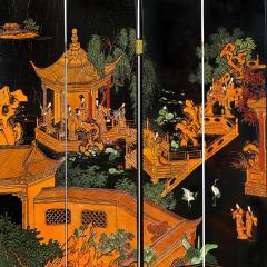 Karl Springer Large 6 Panel Artisan Chinese Screen Sold Through Karl Springer 1980s - 2131286