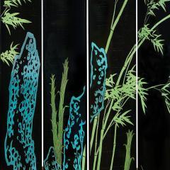 Karl Springer Large 6 Panel Artisan Chinese Screen Sold Through Karl Springer 1980s - 2131287