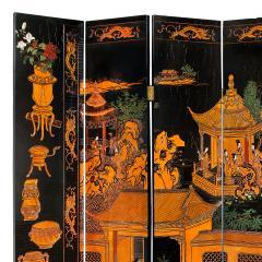 Karl Springer Large 6 Panel Artisan Chinese Screen Sold Through Karl Springer 1980s - 2131288