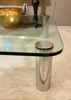 Karl Springer Large Mid Century Modern square coffee table Karl Springer Pace Coll style 1970 - 1573104