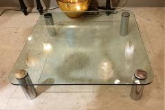 Karl Springer Large Mid Century Modern square coffee table Karl Springer Pace Coll style 1970 - 1573106