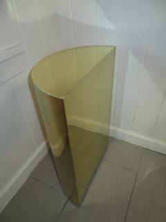 Karl Springer Lovely Brass Half Cylinder Console Table Mid Century modern Karl Springer style - 1033556