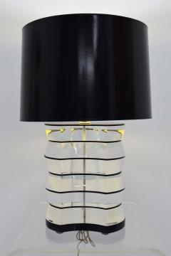 Karl Springer Lucite and Acrylic Table Lamp by Clear Lite - 1456353