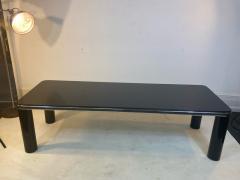 Karl Springer MODERN BLACK MARBLE AND CHROME COFFEE TABLE BY KARL SPRINGER - 1640517
