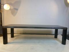 Karl Springer MODERN BLACK MARBLE AND CHROME COFFEE TABLE BY KARL SPRINGER - 1640518