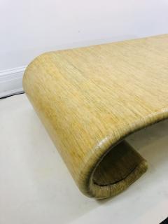 Karl Springer MODERN GRASSCLOTH SCROLL COFFEE TABLE - 1133516